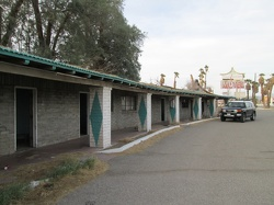 First stop as I arrive at the Mojave National Preserve area: Royal Hawaiian Motel, Baker, California