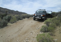 Since I'm new to four-wheel driving, I need to get out and scout this small rut in the road