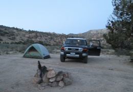 Home for the night at a campsite in Carruthers Canyon