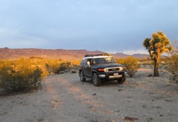 I pull into my chosen campsite for the night with Piute Mesa in the background