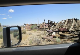 While driving through Cima, I take note of the old houses that have fallen down