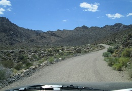 Beyond the little campground is the rise over Tecopa Pass