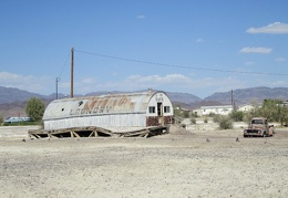 The old U We Wash laundromat in Tecopa Hot Springs still hasn't collapsed after all these years