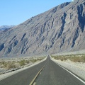 Approaching Badwater, Hwy 178 seems to head straight toward the mountains for a while