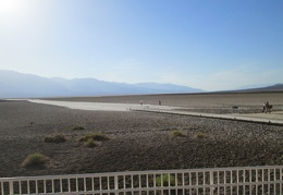 I park by the fence at Badwater and go for a short walk into the area