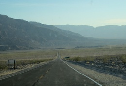 Highway 190 heads up Death Valley, then turns toward the Panamint Mountains