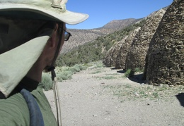 The hike up to Wildrose Peak starts with a walk past the charcoal kilns