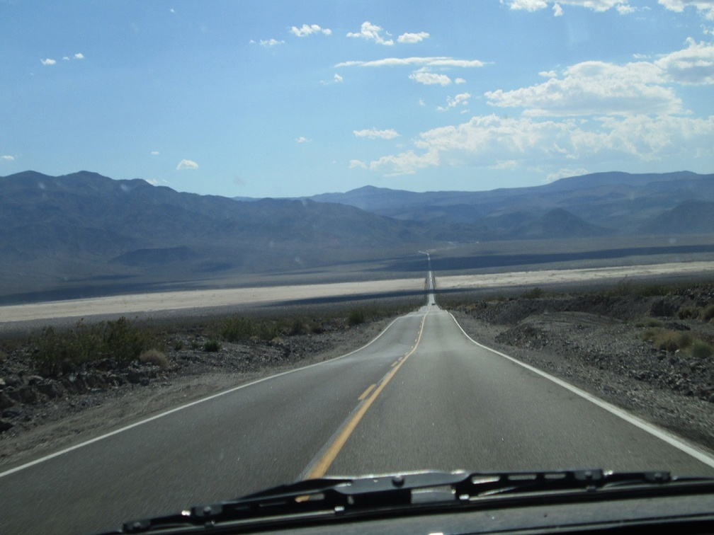 Back in the FJ, I drive down the other side of Towne Pass into Panamint Valley