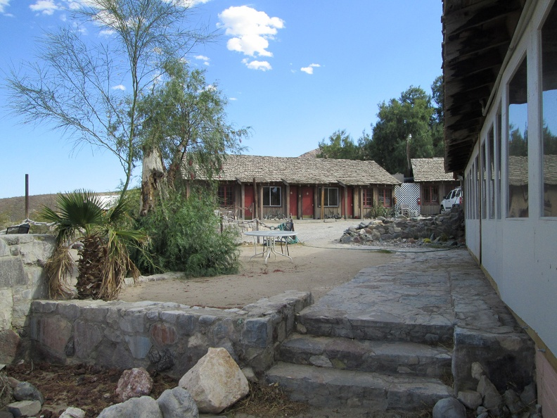 In addition to the café at Panamint Springs are some old rental cabins