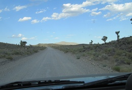 Well, this is the last night of this trip, so I drive up another dirt road