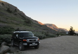 When we get back to the FJ, we find that sunset is already on its way out
