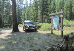 I park at the Emma Lake trailhead, back in the forest at the entrance to the Hoover Wilderness