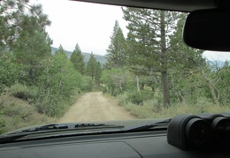 I pack up and leave Obsidian Campground by 10h for the drive over to the Mount Patterson area for a hike
