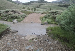 This stream crossing near Lobdell Lake is a bit wider than it was on my way up to Mount Patterson