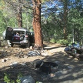 We wake up at quiet Obsidian Campground after a long drive in the dark last night on Hwy 108 from Silicon Valley