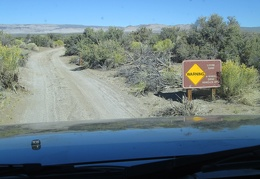 We decide to explore a 4WD road that heads toward Granite Mountains Wilderness
