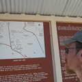 I take a look at the entrance kiosk at Dumont Dunes before driving into nearby Death Valley National Park