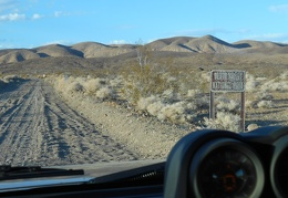 The road was briefly outside Death Valley National Park, it enters it again here