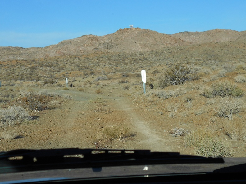 Time to look for a campsite, and a drive toward the old microwave tower