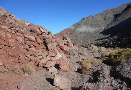 ... and then past a pile of red rock