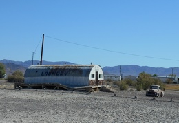 The old U-We-Wash laundromat in Tecopa Hot Springs is forever picturesque