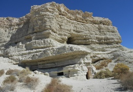 A visit to the earth dwellings near Shoshone is always fun
