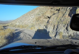 One of my favorite parts of Gold Valley Road is where it skirts along the edge of a low rock wall