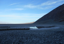 There's not much of that salty water left at Badwater right now