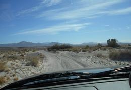 Back on dirt, I drive miles on Furnace Creek Valley Road out of Death Valley Park
