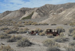 Old car abandoned on the Amargosa River Trail