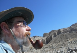 I decide to turn around, relax with a pipe, and enjoy the solitude, instead of bushwhacking onward