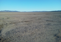 Broadwell Dry Lake is wide open and fun to hike across in the dark, but not today