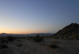 Beautiful sunset as my excellent hike today ends, just 1.5 miles to go