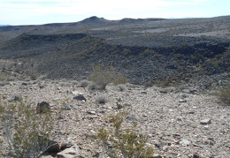 I arrive on the edge of the Broadwell Mesa formation