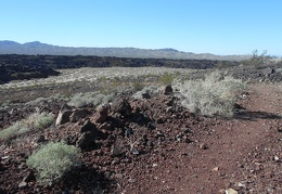 I have a view across the lava field as I leave my campsite area