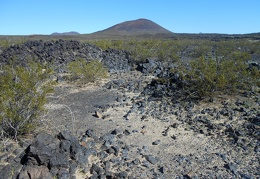 I'll head toward that cinder cone, I see a road climbing its side