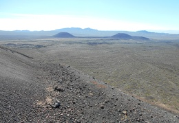 The views behind me back down to the lava bed are pretty good too