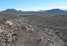 I decide to walk back down and visit the next cinder cone
