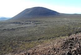 If I had continued hiking up that cinder cone over there, I probably would have swirled onto one of those roads