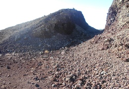 The slot atop the cinder cone is much bigger than I thought