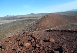 I'll go for a walk around the rim of the cinder cone