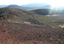 I see two of those little dry lakes up here in the middle of the cinder cone