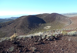 That notch in the cinder cone is where I was standing a short while ago