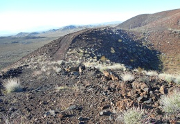 Then over this little lump on the rim of the cinder cone