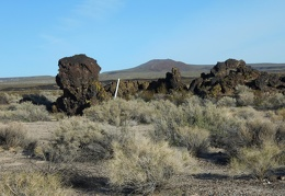 I think I'll walk past that lava pile and its claim marker