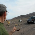 Before today's hike, a second cup of strong black coffee is enjoyed, along with a pipe