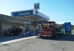 I make an important stop at the unavoidable and expensive gas station in Shoshone