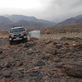 It looks like it's still raining further up Trail Canyon in the Panamint Mountains