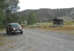 The Taylor Canyon campsite comes with its own outhouse, rugged and unmaintained
