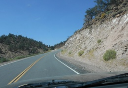Highway 120 has great scenery in the Granite Mountains Wilderness area